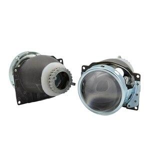 Image 4 - Lentille de projection au xénon caché, 3.0 pouces H4Q5 Bi, support métallique D2S D2H, ampoule au xénon, pour LED jours de course, yeux dange, décoration de voiture, 2 pièces