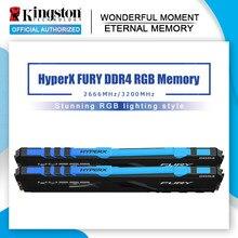 HyperX FURY RGB DDR4 Memoria 2666MHz 3200MHz 3600MHz DDR4 DIMM XMP 8GB 16GB Memoria Ram de Memoria Kingston carneros para escritorio