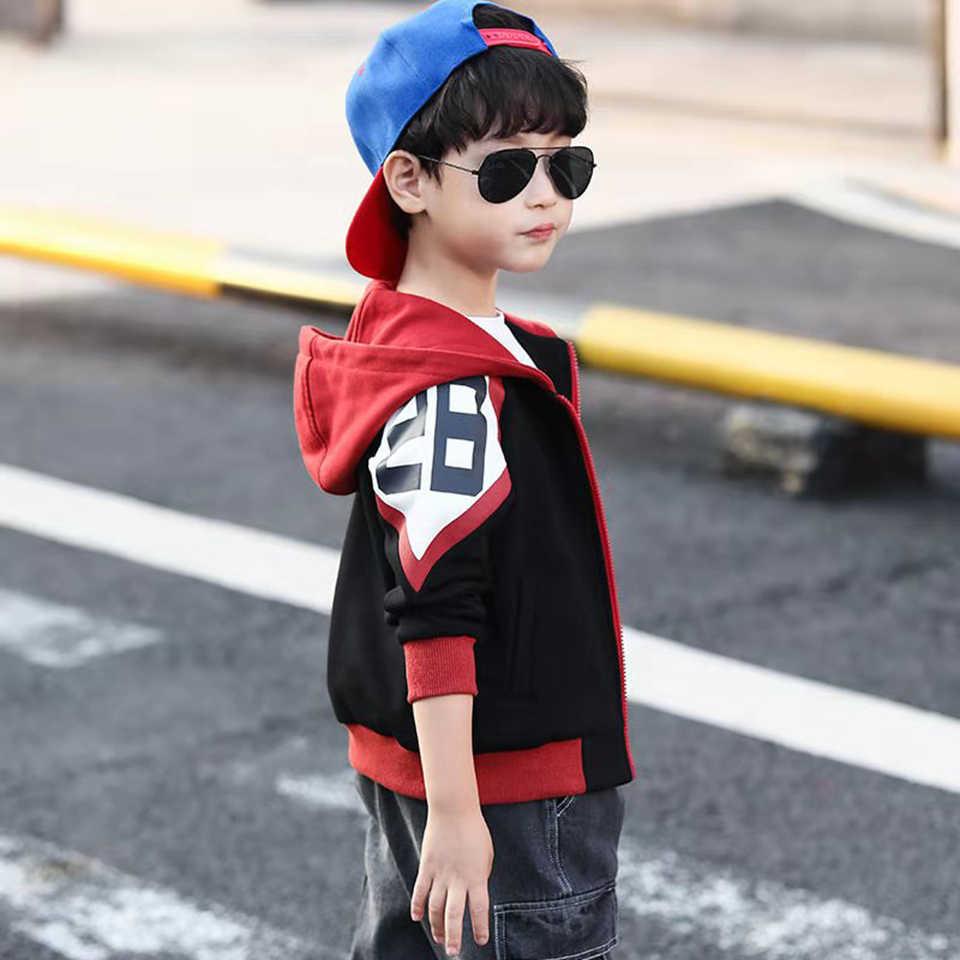 3 4 5 6 7 8 9 10 jahr Frühling Herbst Baby Jungen Outwear Langarm Jacken Mantel Cartoon Brief drucken Mit Kapuze Mantel Oberbekleidung Tops