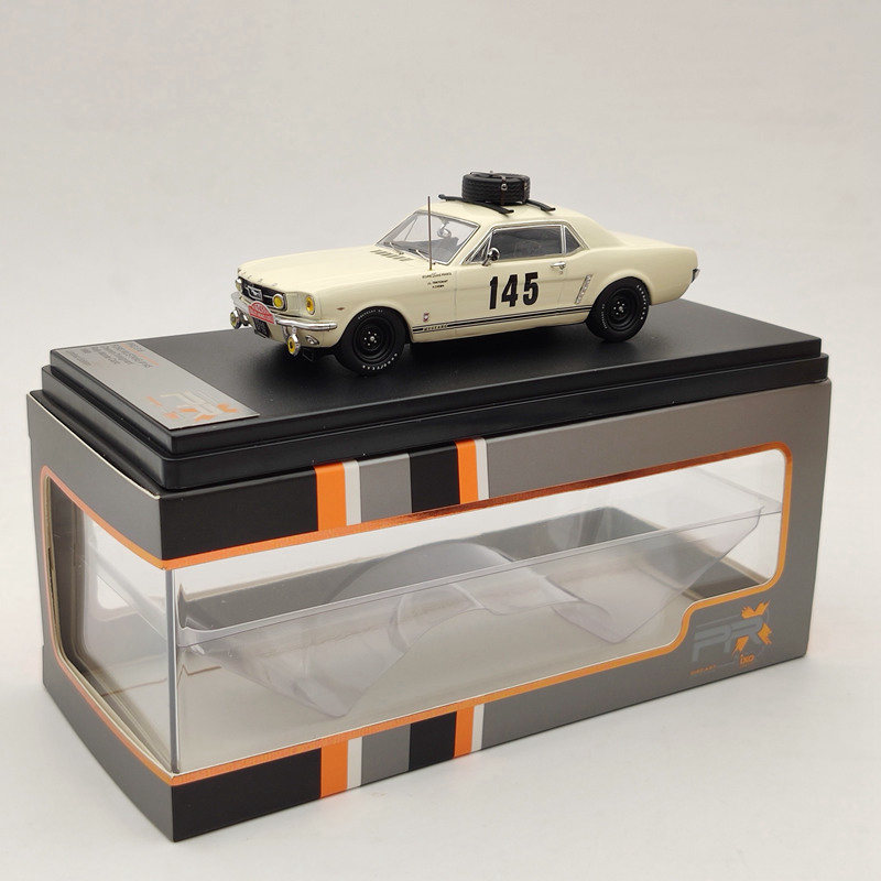 Premium X FORD MUSTANG #145 C//T Rally Monte Carlo 1966 PRD316 Beige Limited 1:43