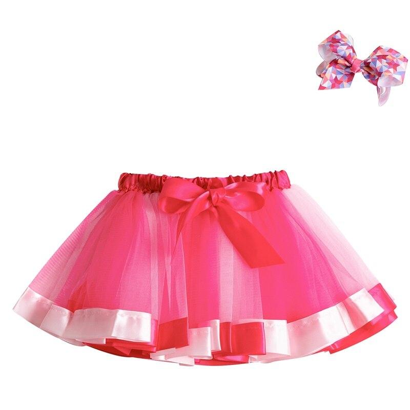 Летняя юбка-пачка; юбки для маленьких девочек; мини-юбка принцессы для дня рождения; Радужная юбка с единорогами; Одежда для девочек; одежда для детей - Цвет: 1