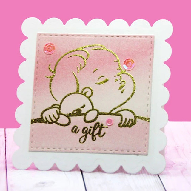 Sleeping Baby Stamps And Dies Set Clear Stamp and Cutting Dies for DIY Scrapbooking Paper Cards Craft 2020 New