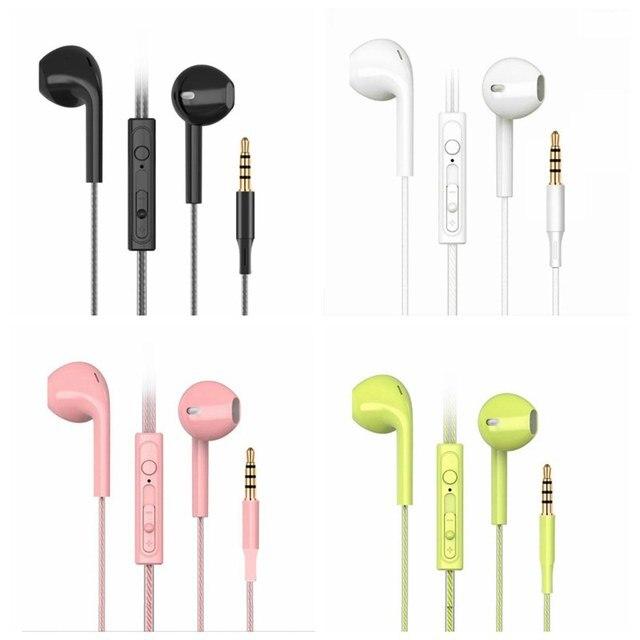 1.2M Uzaktan Kumanda Orijinal Kulaklık Stereo Kulakiçi Samsung iphone Xiaomi Huawei için OPPO VIVO Kablolu Spor Müzik Kulaklık