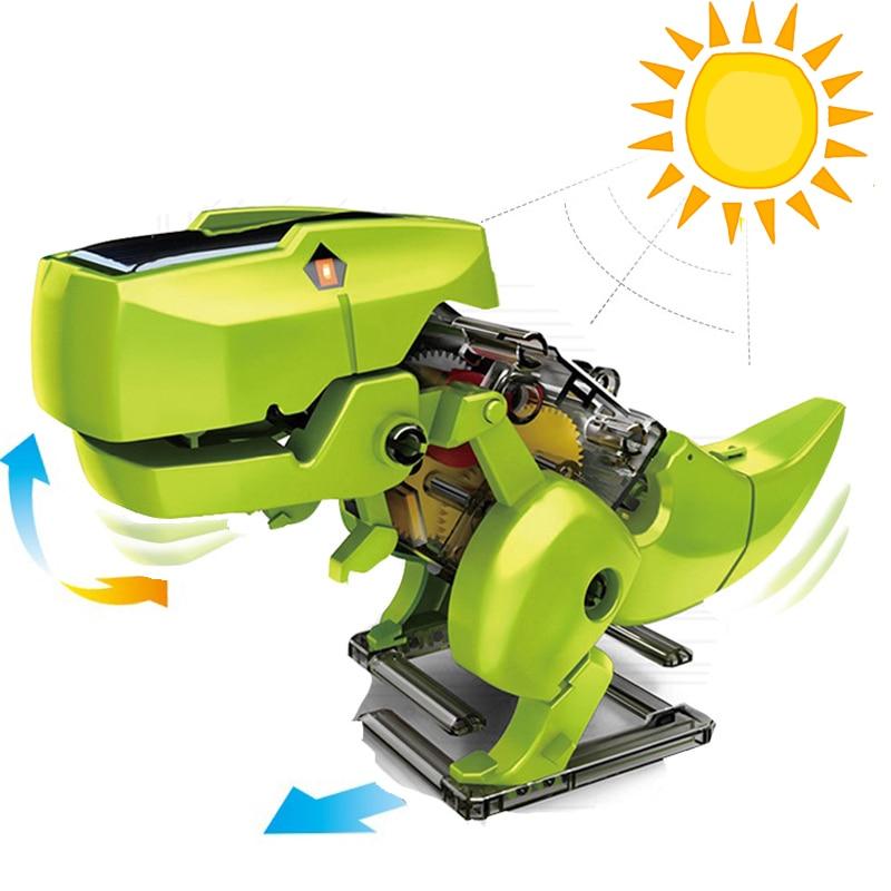 3 In 1 Solar Energy Dinosaur Robotic Kits Kids Science Solar Toys Model Building  DIY Assembly Educational Toys For Children