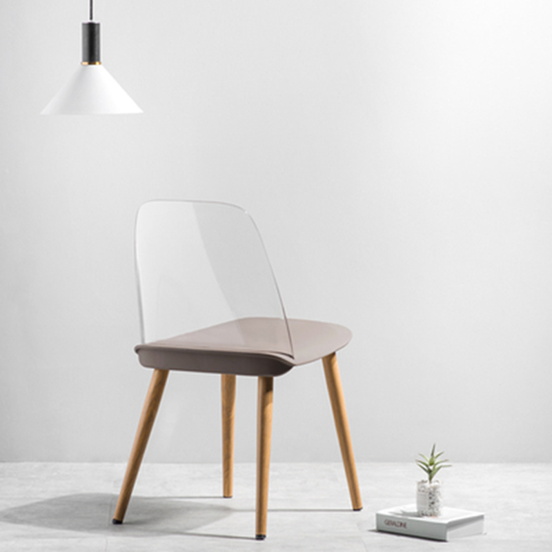 Modern Creative Restaurant Dining Chair Minimalism Art Transparent Chair Office Meeting Chair Home Study Learning Lounge Chair