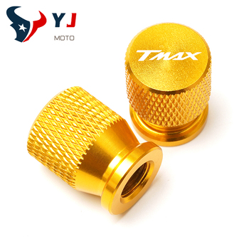 one Pair Motorcycle Aluminum Wheel Tire Valve caps For YAMAHA TMAX 530 SX/DX T-MAX TMAX 500 530 560 Tech Max 2019 2020 all year image