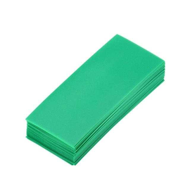 50 sztuk 18650 baterii Wrap rurka termokurczliwa pcv Precut dla baterii taśma filmowa pokrywa baterii kurczenie rury