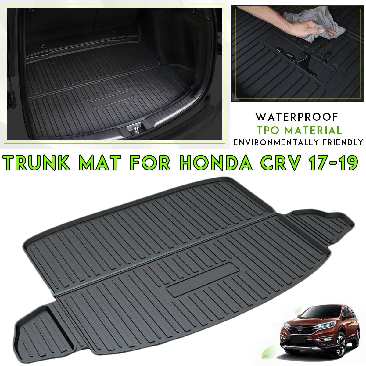 Car Rear Trunk Liner Cargo Boot TPO Mat Floor Tray Mud Kick Protector Carpet For Honda For CR-V For CRV 2017 2018 2019