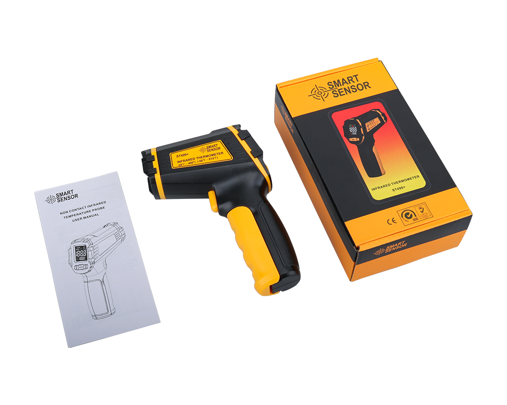 Non Contact Infrared Thermometer Gun to Measure Surface Temperature of Hazardous Object 29