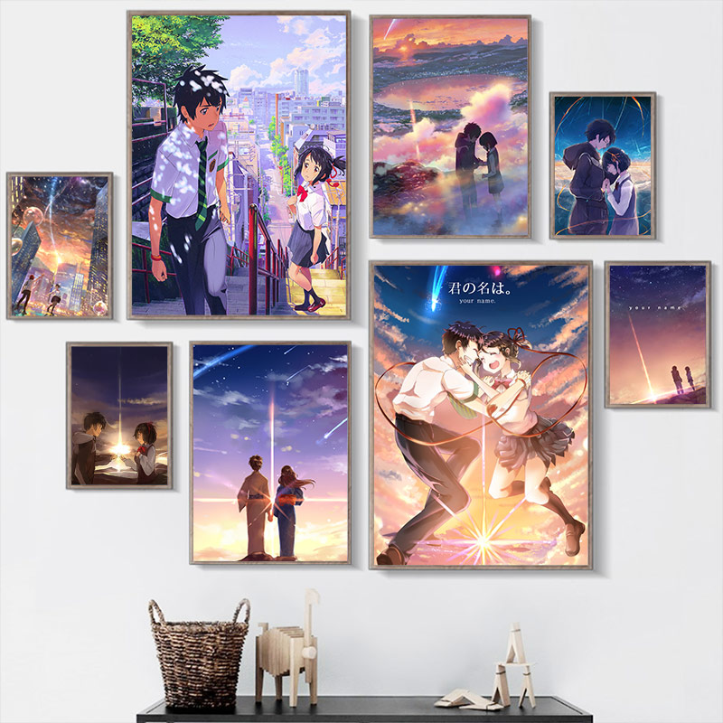 Prints Home Decoration Painting Anime Your Name Pictures Wall Art Modular Canvas Watercolor Poster Modern For Bedside Background