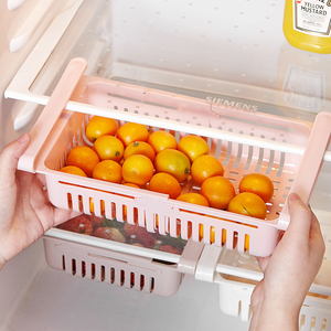 Выдвижной регулируемый ящик для хранения в холодильнике, ящик для холодильника, ящик для холодильника, полка для хранения с отделениями для свежести
