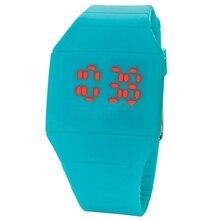 새로운 남성 캐주얼 LED 손가락 화면 시계 남자의 디지털 시계 남자 실리콘 손목 시계 시계 Hodinky Ceasuri Relogio Masculino