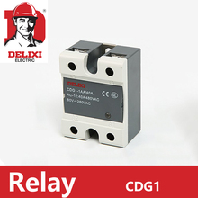 цена на 1pc SSR Relay DELIXI Solid State Relay Single Phase DC Control DC CDG1-1DD 10A 25A 40A 60A 80A SSR-DD