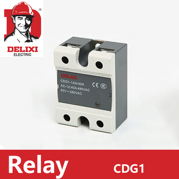 1pc SSR Relay DELIXI Solid State Relay Single Phase DC Control DC CDG1-1DD 10A 25A 40A 60A 80A SSR-DD ssr 25dd 40dd 60dd 80dd ssr single phase dc control dc heat sink 3 32vdc to 5 220vdc25a 40a 60a 80add solid state relay