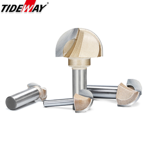 Image 5 - Tideway Woodworking Round Cove Bit Tungsten Carbide Professional Grade Router Bits for Wood 1/2 1/4 Inch Shank Milling Cutter