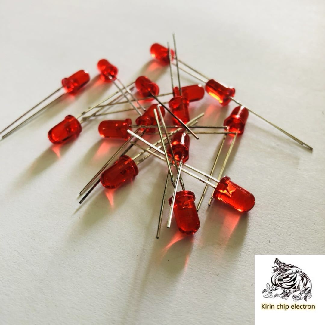 1200PCS/LOT LED Light Emitting Diode 5mm Red, Bright, Long-legged, 5mm Round Head, Foggy, Red