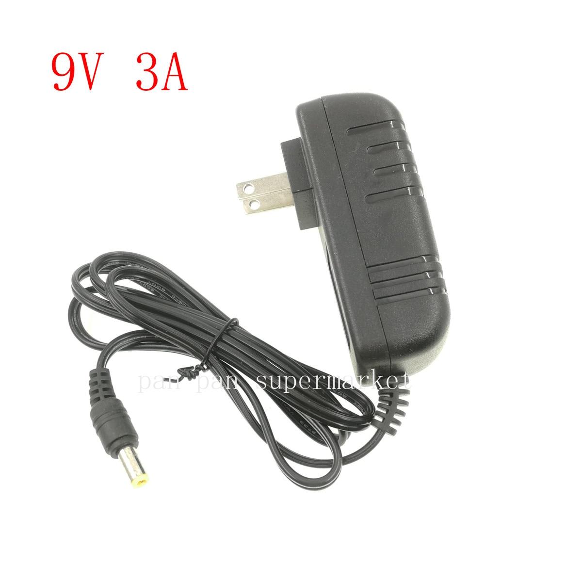 Adaptador do carregador da fonte de alimentação d 9 v 3a adaptador dc9v volt dc swiching para a lâmpada de tira conduzida