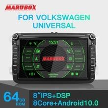 Marubox車マルチメディアプレーヤーアンドロイド10 gps 2 dinカーラジオオーディオ自動vw/フォルクスワーゲン/ポロ/パサート/ゴルフ8コア4グラム64グラムKD8101