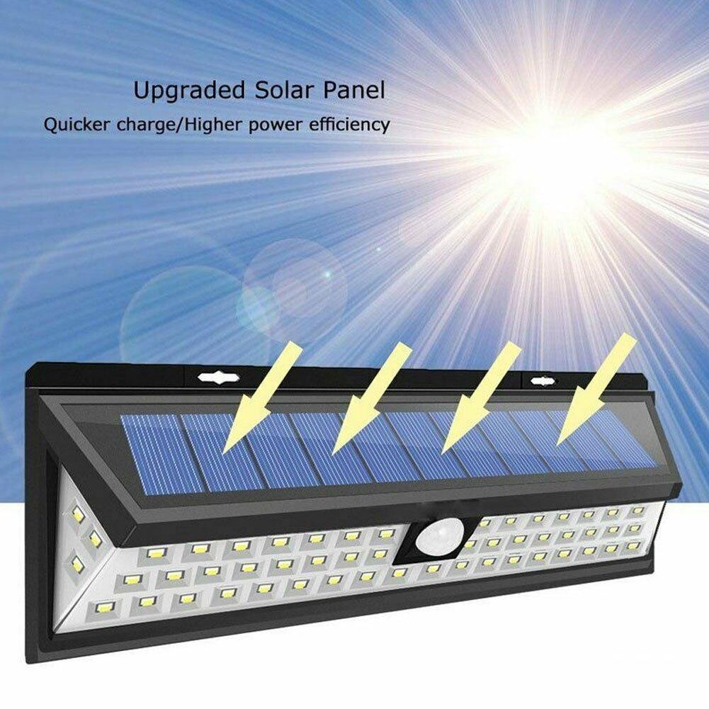 118 diodos emissores de luz de parede movido a energia solar sensor de movimento lampada de