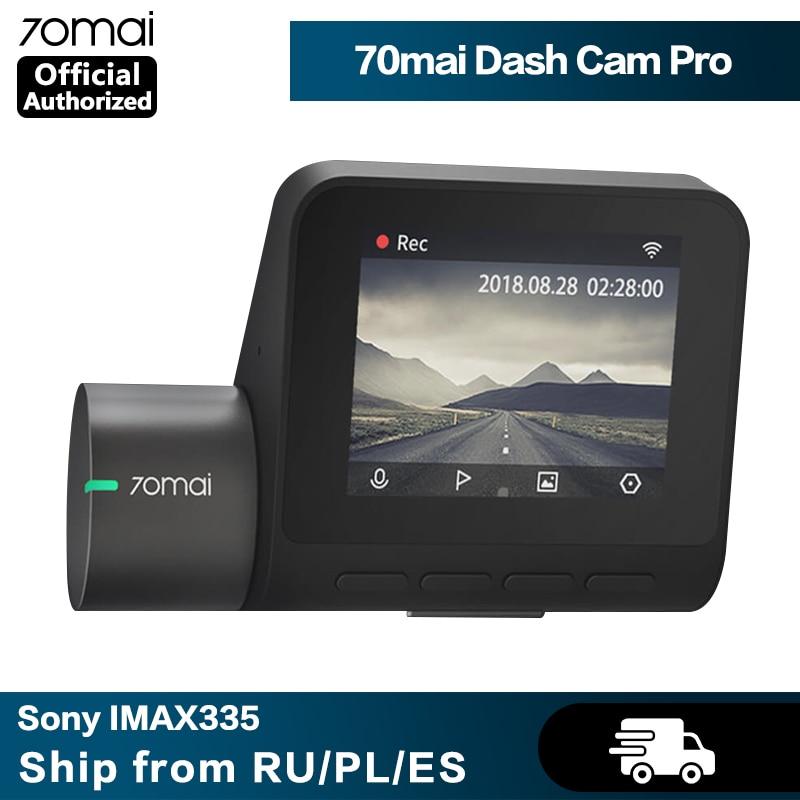 70mai kamera na deskę rozdzielczą Pro GPS ADAS prędkość i współrzędne 70mai Pro wideorejestrator samochodowy kamera na deskę rozdzielczą era WiFi 1944P HD sterowanie głosem 24H Monitor do parkowania