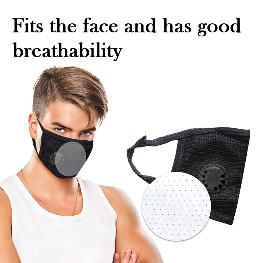 1pc Dust Mask Unisex Anti-pollution Mask Outdoor Protection N95 Non-woven Cloth Dust Mask Cotton Yarn Black Mask Neutral / Outdo
