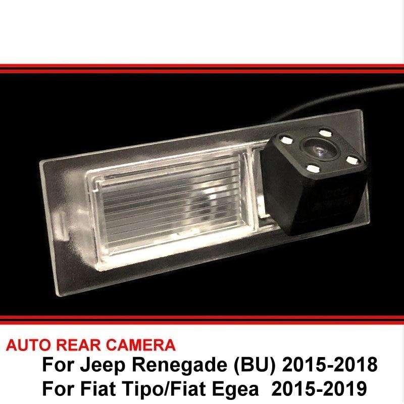 Para jeep renegade (bu) para fiat tipo egea câmera de visão traseira, câmera para estacionamento reversa, visão noturna com led à prova d' água