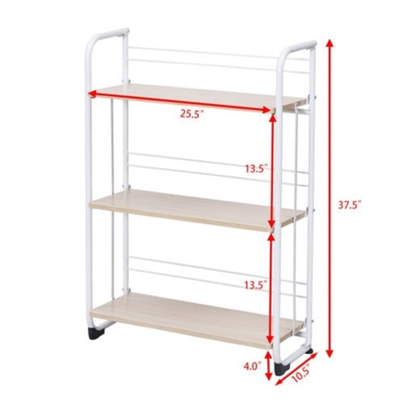 3 х уровневый складные полки для хранения утилита постоянная стойка для Кухня гараж для офисного помещения, используя пол Тип дома держател... - 2