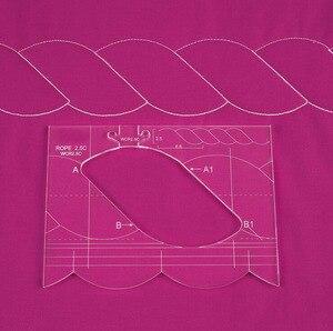 Image 2 - new ruler border sampler template set for sewing machine can create beautiful borders  1 set =4pcs #RL 04W