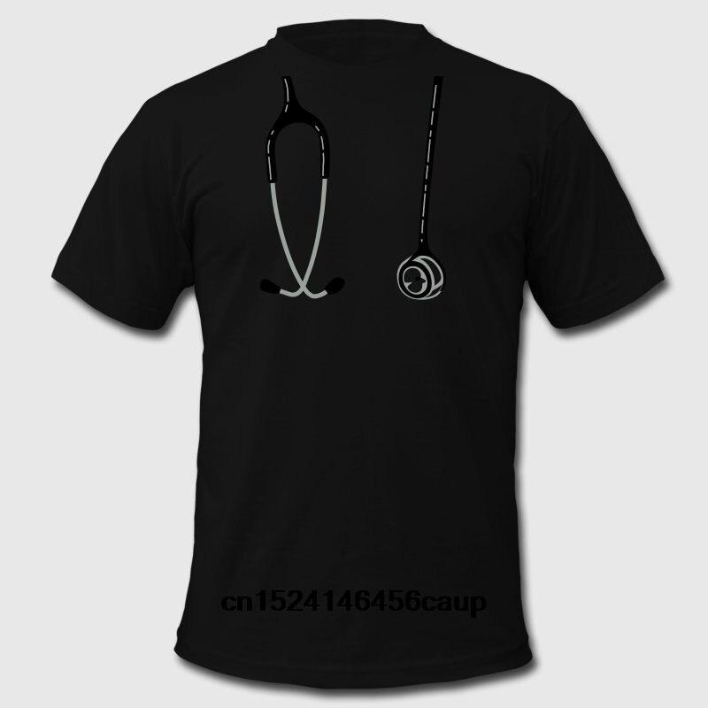 100% Cotton O-neck Custom Printed Men T shirt Stethoscope Women T-Shirt