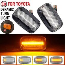 2Pcs דינמי LED צד מרקר פנדר אורות תור זורם אות אור צד מהדר עבור טויוטה Landcruiser 70 80 100 סדרה