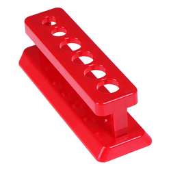 New Lab School Supplies Red Plastic Test Tube Rack 6 Holes Holder Support Burette Stand Laboratory Test tube Stand Shelf