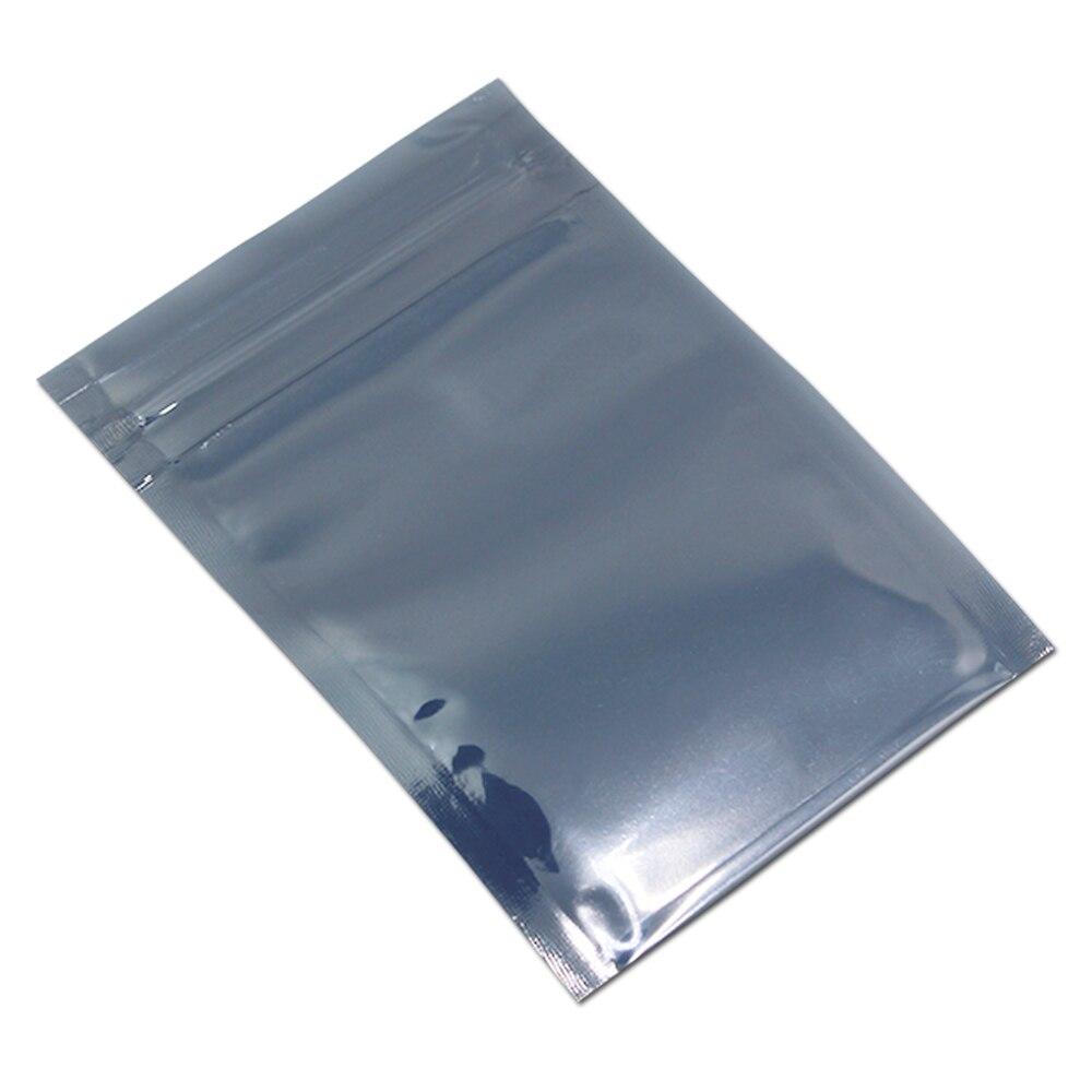 100pcs Lot Plastic Zipper font b Electronics b font Package Pouch Bag ESD Anti static Self