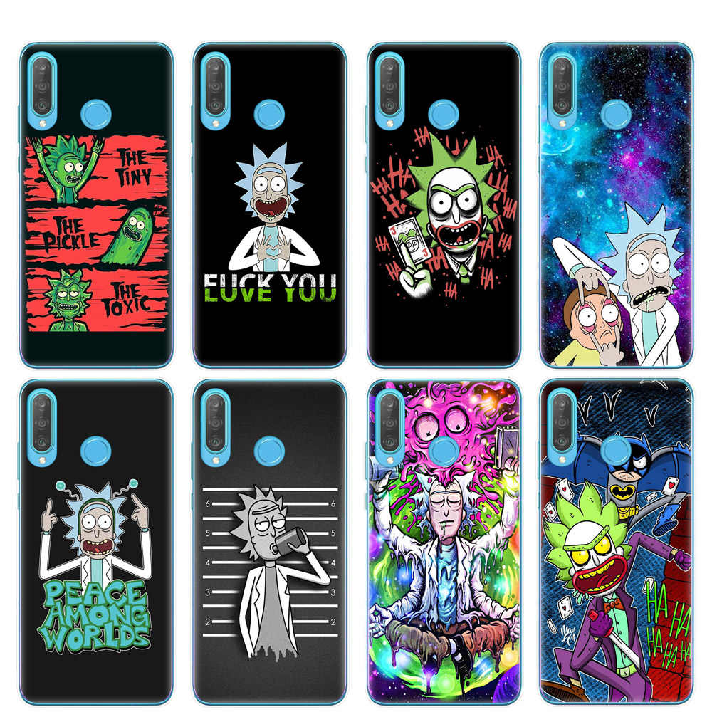 Cartoon Anime Rick And Morty Phone Case For Huawei P30 P20 Lite Pro P10 P9 P8 Lite 2017 Soft Silicone TPU Cover Coque Fundas