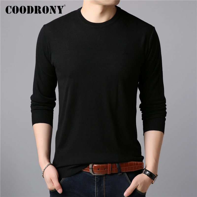 COODRONY Brand Sweater Men Casual O-neck Pull Homme Knitted Cotton Wool Pullover Men Clothes Autumn Winter Jumper Sweaters 91079