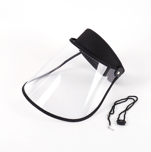 Safety Transparent Mask Full Face Shields Hat Saliva Virus Protective Clear Flip Up Visor Face Cover Protection Caps 3