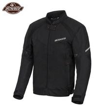 SCOYCO Summer Men Motorcycle Jacket Motocross Off-Road Jacket Motor Racing Jacket Breathable Mesh Moto Jacket Protective Gear