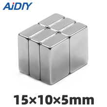 AI DIY 3/10/lot Pcs 15x10x5mm N35 Neodymium Magnet Super Strong Powerful Cuboid Block Rare Earth Magnets Rectangular 15*10*5mm