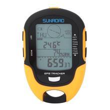 SUNROAD fr110 ręczny odbiornik nawigacji GPS Tracker przenośny ręczny cyfrowy barometr wysokościomierz kompas lokalizator tanie tanio YOSOO Typu handheld Other Wskazując przewodnik HIKE