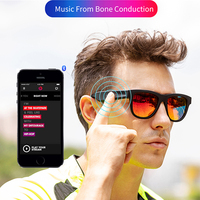 Bone Conduction Earphone Speaker Open Ear Headphone Wireless Sports Polarized Frame Smart Stereo Sound Audio Sun Glasses