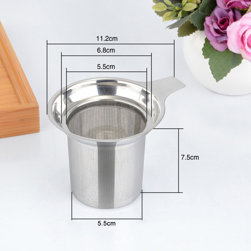 High Quality Reusable Stainless Steel Mesh Tea Infuser Tea Strainer Teapot Tea Leaf Spice Filter Drinkware Kitchen Accessories