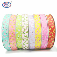 HL 1(25mm) 5 Meters/lot Printed Bowknot Grosgrain Ribbons Wedding Party Decorative Gift Wrapping DIY Chilren Hair Accessories 6yards lot mix printed trim geometric ribbons diy wrapping wedding party hair bow decoration art sewing accessories 040054006