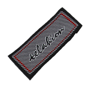 Free Design & Free Shipping Customized 500pcs/lot Woven labels for clothing garment embroidered labels/ main tags SL062
