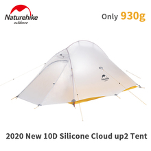 Naturehike Upgrade 10D Cloud Up Camping Tent  930g Ultralight 2 Presons Outdoors Camping 10D Silicone Hikeing Tent With free Mat