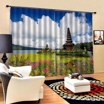 nature scenery curtains Customized size Luxury Blackout 3D Window Curtains For Living Room Blackout curtain