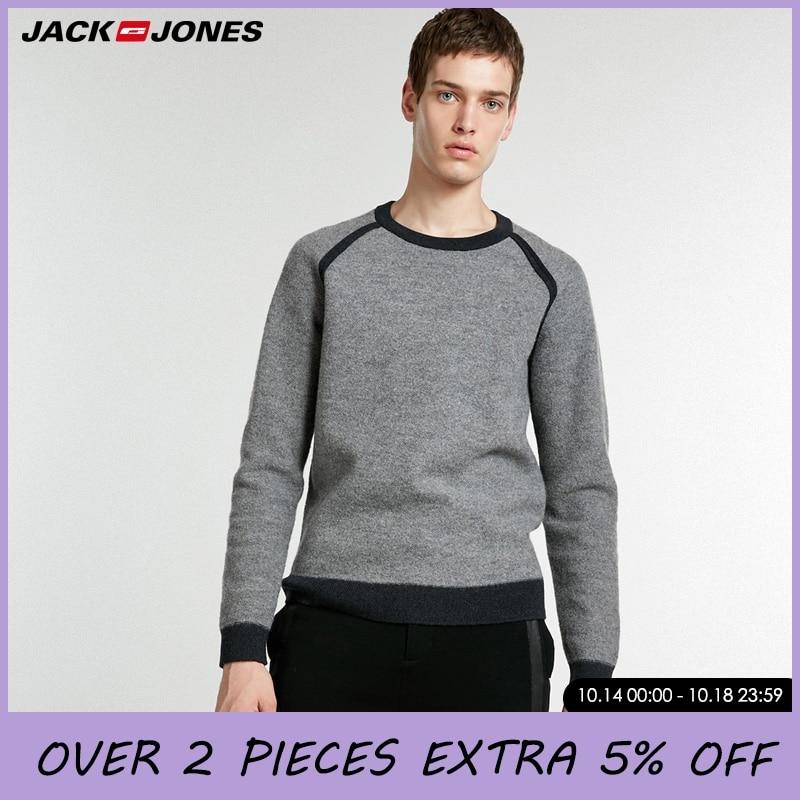 Jack Jones Mens Autumn & Winter 100% Wool Knit Sweater  218424512