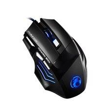 X7 USB Spiel Maus Sound Verdrahtete Optische Bunte Esport Gaming Maus mit 7 Tasten Maus Tastaturen Computer Zubehör H-beste