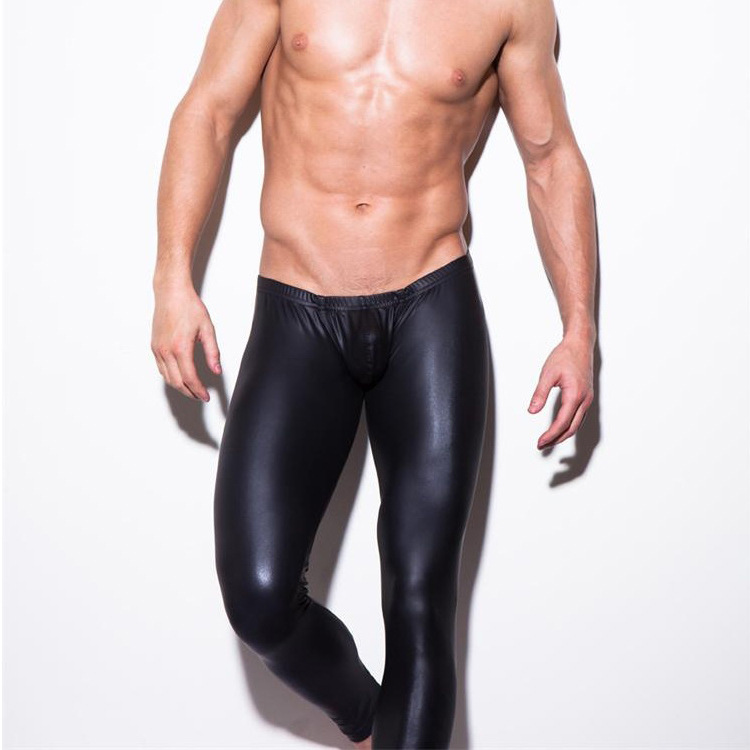 America N2N Faux Leather Trousers Nightclub Tight Pajamas Sexy Patent Leather Men's Casual Pants