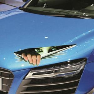 Image 5 - BEMOST تصفيف السيارة مضحك ملصقات مقاومة للماء سيارة ثلاثية الأبعاد عيون Peeking ملصقات Voyeur السيارات الجسم دراجة نارية مائي اكسسوارات السيارات
