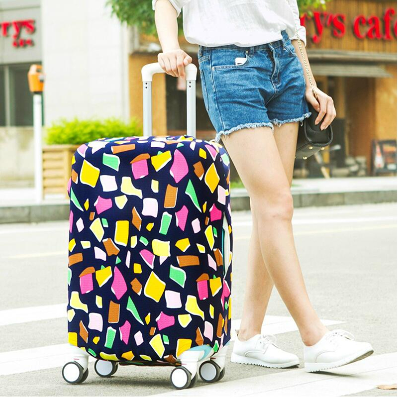 HHYUKIMI Brand Elastic Luggage Protective Cover For 19-32 Inch Trolley Suitcase Protect Dust Bag Case Child Cartoon Travel Cover
