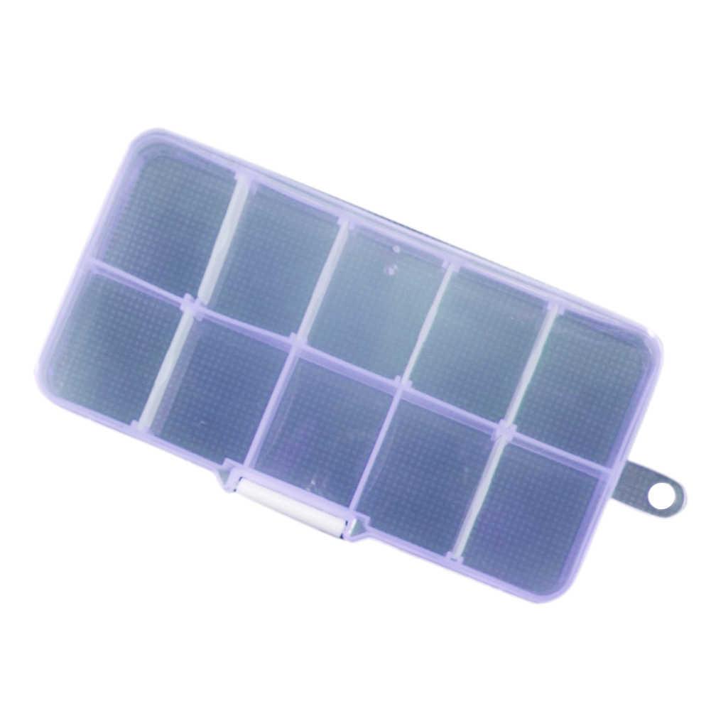 العملي 10 المقصورات مجوهرات أقراط خواتم شفاف صندوق تخزين من البلاستيك المنظم الحاويات مجوهرات صندوق تخزين ل الأذن